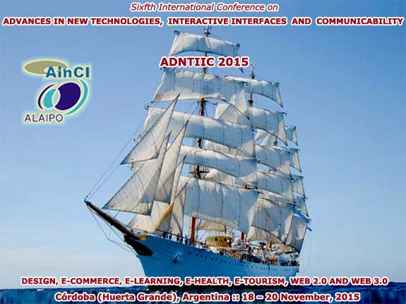 6th International Conference on ADNTIIC 2015 :: Córdoba, Argentina :: 18 - 20 November, 2015